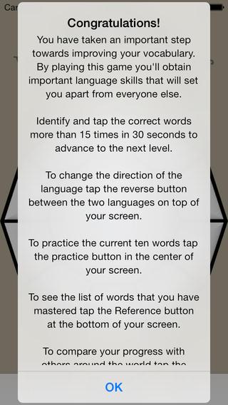 Vocabulary Trainer: English - Serbian iPhone Screenshot 5