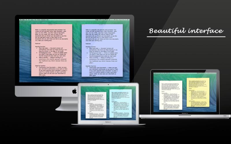 "Noter - 文本处理软件[OS X]丨""反""斗限免"