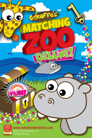 Giraffe's Matching Zoo Deluxe - Featuring the FUN BUTTON! iPhone Screenshot 1