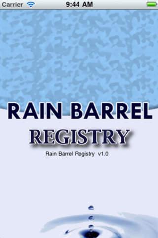 Rain Barrel Registry