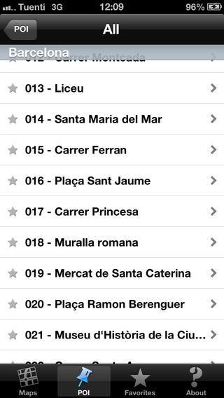 Barcelona touristic audio guide (english audio) iPhone Screenshot 5