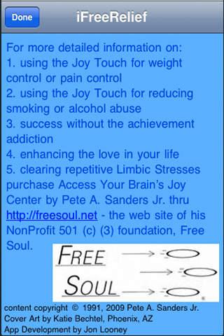 iFreeRelief iPhone Screenshot 1