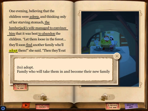 Hansel and Gretel HD Lite - So Ouat! iPad Screenshot 3