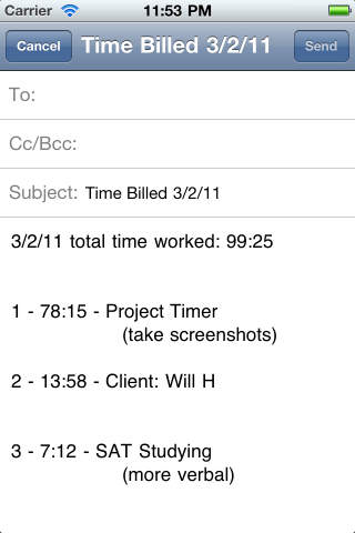 Project Timer Free iPhone Screenshot 5