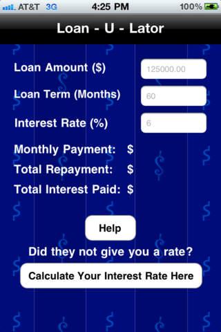 Loan-U-Lator iPhone Screenshot 1