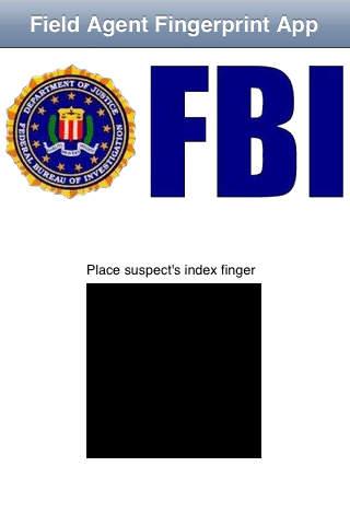 Field Agent Fingerprint App