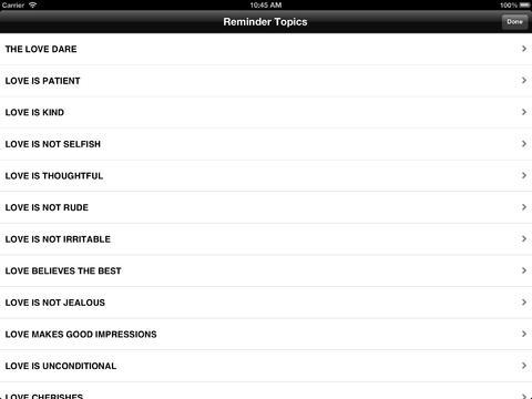 The Love Dare: Reminders iPad Screenshot 3