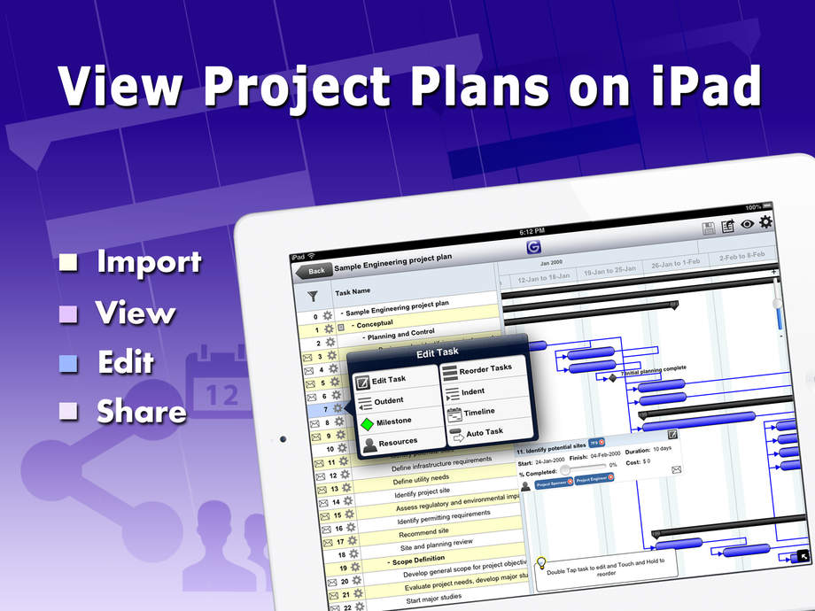 Gantt Pro - Manage MS Project Plans - iPhone Mobile Analytics and App Store Data
