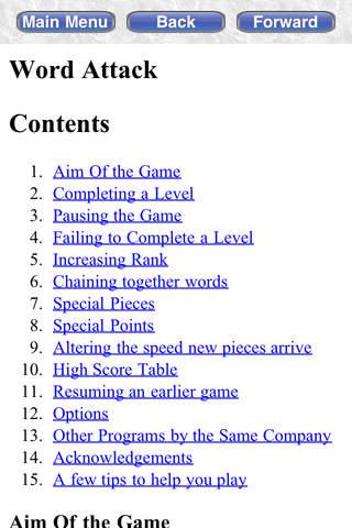 Word Attack Free iPhone Screenshot 5