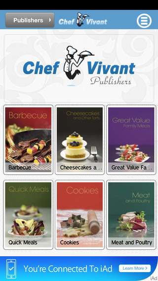 Chef Vivant Lite - iPhone Edition - Customizable Interactive Digital Cookbooks and Recipe Channels