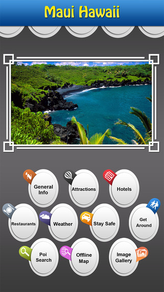 Maui Hawaii Offline Map Travel Explorer