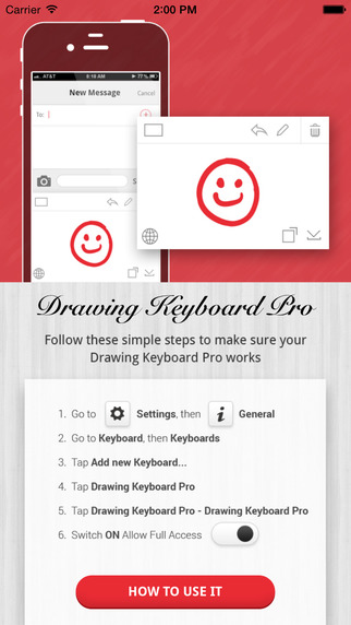 Drawing Keyboard Pro - Scribble Doodle Keyboard in Messaging Apps for iOS8