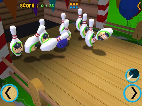 jungle animals bowling for kids vip iPad Screenshot 3