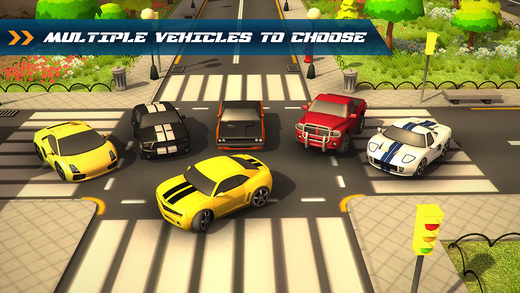 3D Traffic Toon Racer : Hi Speed Real Escape Racing Rivals in City Road Pro