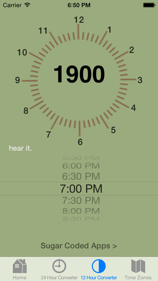 Military Time Conversion Spinnner: A free guide to 24 Hour Time iPhone Screenshot 4