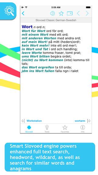 Swedish German Slovoed Classic talking dictionary
