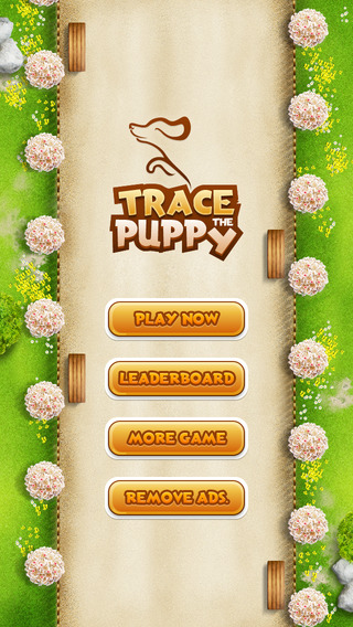 Trace The Puppy - But be careful Don't miss the footstep