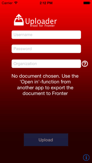 Uploader for Fronter
