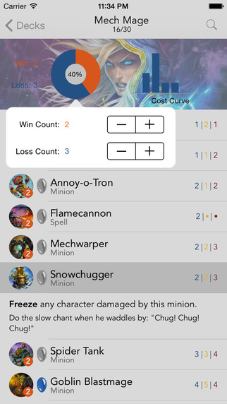 Hearthmate - Companion For Hearthstone Deck Building and Ranked Arena Stats