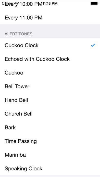Hourly Chime in Background iPhone Screenshot 3