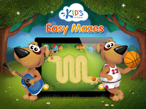 Easy mazes for toddlers HD - my first workbook by Kids Academy