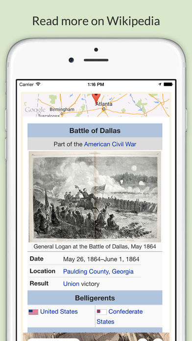 American Civil War Daily Lite iPhone Screenshot 2