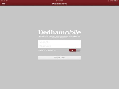 Dedham Savings for iPad