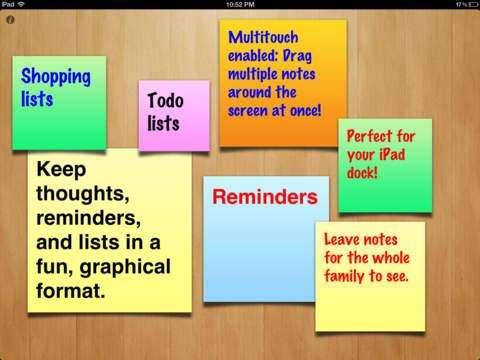 Sticky Notes for iPad iPad Screenshot 1