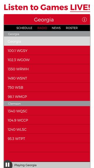 Georgia Football Radio Live Scores