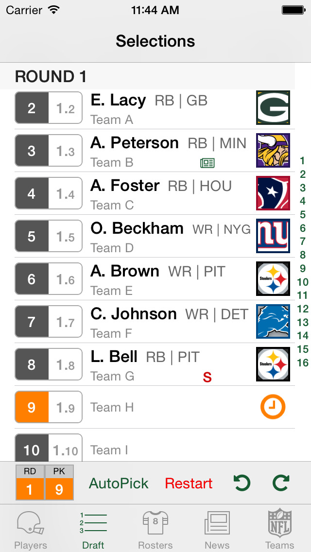 NFL Fantasy Football Cheat Sheet & Draft Kit 2015  Screenshot