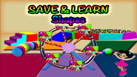Basic Shapes Preschool Learning Experience Jumping Shapes Fun Game