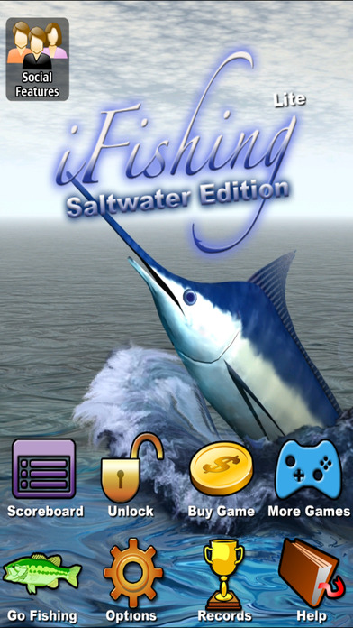 i Fishing Saltwater Edition Lite iPhone Screenshot 1