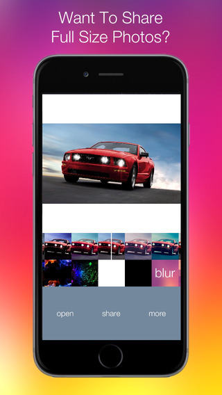 Insta Full Size - Social Photo Editor with Fit Ima