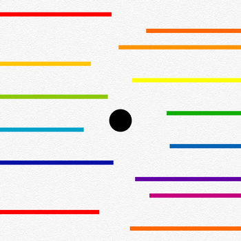 Black Dot Colorful Lines LOGO-APP點子