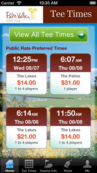 Palm Valley Golf Club Tee Times