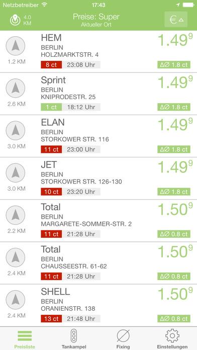 benzinpreis.de iPhone Screenshot 1