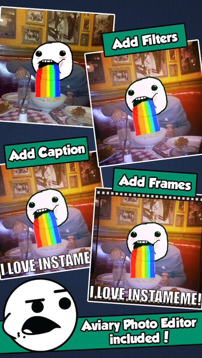InstaMeme! - A Funny Photo Booth Editor with Meme Comics and Rage Faces Stickers - iPhone Mobile Analytics and App Store Data