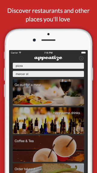 Appeatize - Discover restaurants and other places you'll love