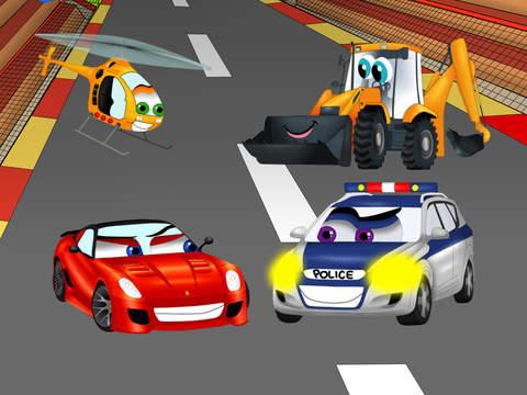 Автомобили дорога лабиринт - смешно бесплатные образовательные форма комбинационной игры для детей мальчиков малышей и детей дошкольного на iPad