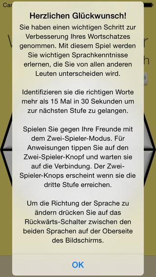 Vocabulary Trainer: German - Hindi iPhone Screenshot 5