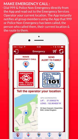 Family TRAK 999: Call Nine Nine Nine 9-9-9 Emergency Alert GPS