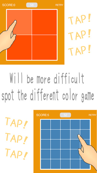 Search color ~spot the different color game~