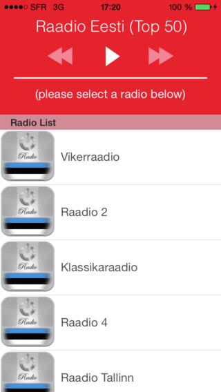 Raadio Eesti Top 50 : Uudised Muusika Jalgpall Tul