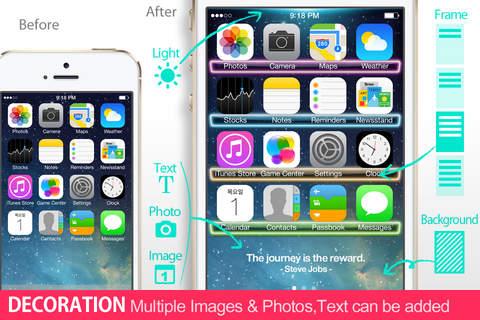 iWallpaper Maker Lite : Crystal & Light Frame (  for home screen, Wallpaper,background,skin )