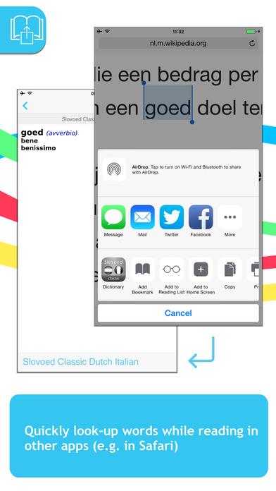 Dutch <-> Italian Talking SlovoEd Classic Dictionary iPhone Screenshot 3