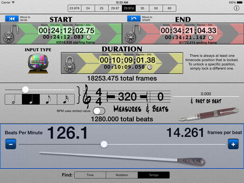 SMPTE Score HD iPad Screenshot 1