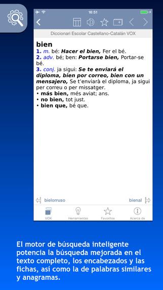 Diccionari Escolar Català-Castellà Castellano-Catalán VOX