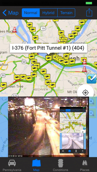 Pennsylvania Philadelphia Pittsburgh Traffic Cameras - Travel Transit NOAA Pro