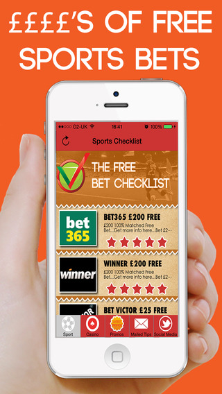 The Free Bet Checklist - Sport Betting Tipster Free Bets