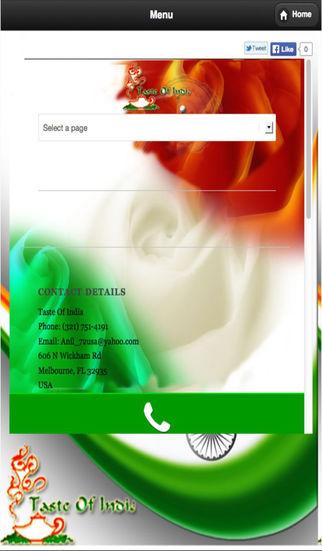 Taste Of India Restaurant App